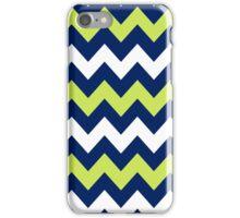 >>chic.chevron<< - navy&lime&white iPhone Case/Skin