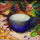 """Teacup with Berries"" by Tatiana Roulin"