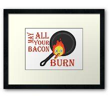 Bacon Burning Framed Print