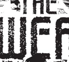 The Swear - Crest (black) Sticker