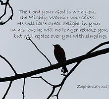 Zephaniah 3:17 Greeting Card by Susan S. Kline