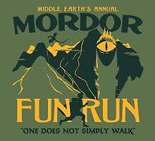 Mordor Fun Run Sticker by Fudgepops