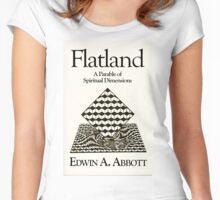 Flatland: flat-chested just means more spiritual! Women's Fitted Scoop T-Shirt