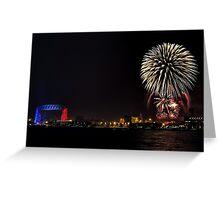 Duluth Fireworks Greeting Card
