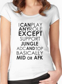 I Can Play Any Role Women's Fitted Scoop T-Shirt