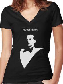 klaus nomi Women's Fitted V-Neck T-Shirt