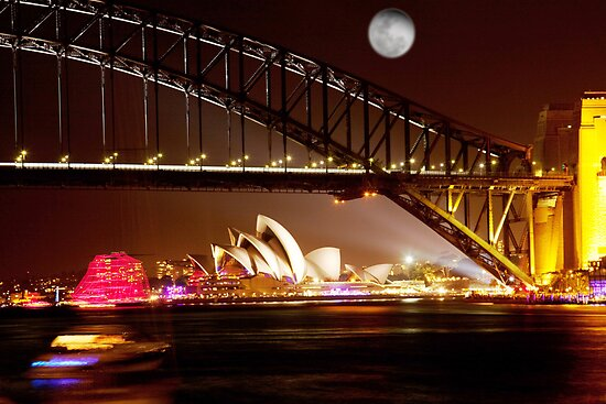 Full Moon Sydney by ramanandr
