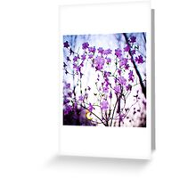 Purple Speckles Greeting Card
