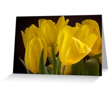 Yellow Silk Greeting Card