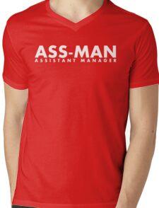 Assistant Manager (white) Mens V-Neck T-Shirt