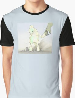helicopter & baby kaiju Graphic T-Shirt