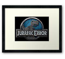 Jurassic Error Framed Print