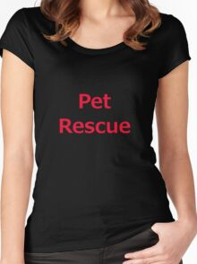 Pet Rescue Women's Fitted Scoop T-Shirt