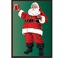Santa with pipe and glasses Photographic Print