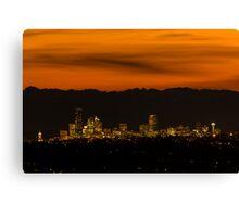 Good Night, Seattle! Canvas Print