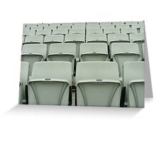 Empty Seats MCG Greeting Card