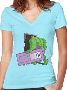 Anger Management Women's Fitted V-Neck T-Shirt
