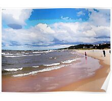 Lake Michigan Beach Poster