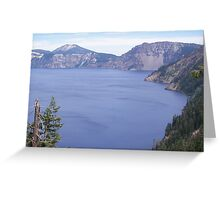 Overlooking Crater Lake Greeting Card