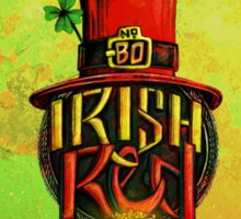 IRISH RED LABEL. Sticker