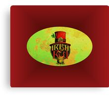 IRISH RED LABEL. Canvas Print