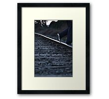 Stepping Off The Tracks Framed Print