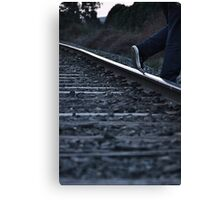 Stepping Off The Tracks Canvas Print