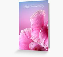 Happy Mother's Day  Pink Macro Gladiola  Greeting Card