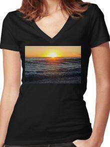 Malibu VII Women's Fitted V-Neck T-Shirt