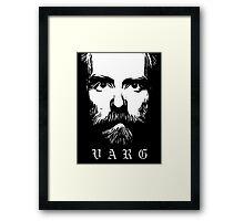 VARG - SOLID WHITE Framed Print