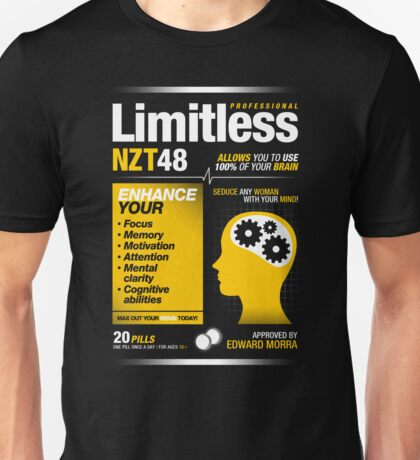 Limitless Pills - NZT 48 (Original Version) T-Shirt