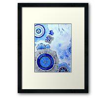 Blue Zen Art Framed Print