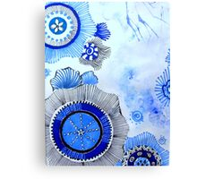 Blue Zen Art Canvas Print