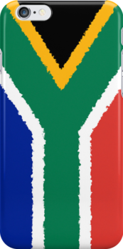 Smartphone Case - Flag of South Africa - Vertical Painted by Mark Podger