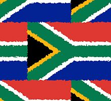 Iphone Case - Flag of South Africa - Patchwork Painted by Mark Podger