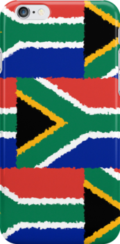 Smartphone Case - Flag of South Africa - Patchwork Painted by Mark Podger