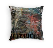 Tawhiri Graffed Throw Pillow