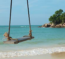 Beach Swing, Thailand by DavePrice