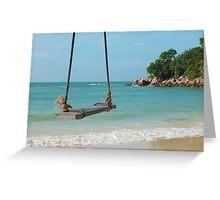 Beach Swing, Thailand Greeting Card
