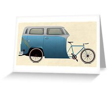Camper Bike Greeting Card