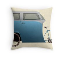 Camper Bike Throw Pillow