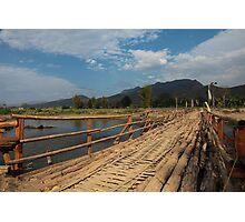 Pai Bridge, Thailand Photographic Print