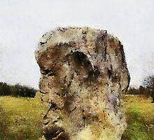 The face in the rock, Avebury Henge, Wiltshire, UK by buttonpresser