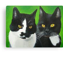 Olly and Felix Canvas Print