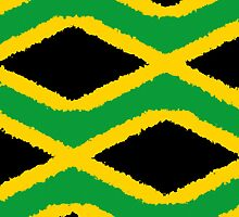 Smartphone Case - Flag of Jamaica - Patchwork Painted by Mark Podger