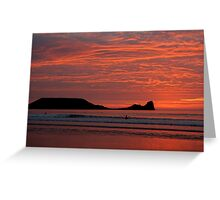 Last Surf at Rhossili Greeting Card