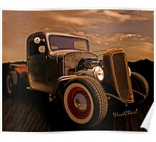 This Chevy Rat Rod Pickup Began Life Back in 1936 Poster