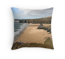 Three Cliffs Bay on the Gower Throw Pillow