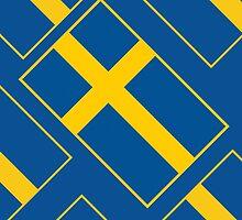 Smartphone Case - Flag of Sweden - Diagonal by Mark Podger