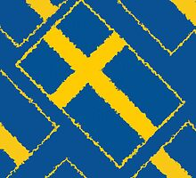 Smartphone Case - Flag of Sweden - Diagonal Painted by Mark Podger
